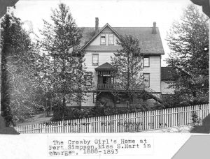 Crosby Girls' Home front view.
