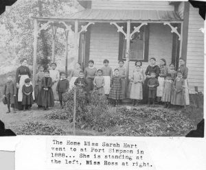 Students outside Crosby Girls' Home.