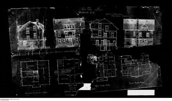 Building plans of Alberni Girls' home.