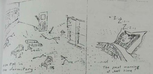 One of several cartoons about school life published in the 1933/34 Brandon IRS yearbook
