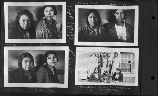 Photographs of students at Edmonton IRS.