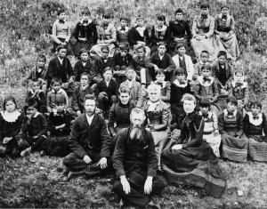 Teachers and students at McDougall Orphanage.