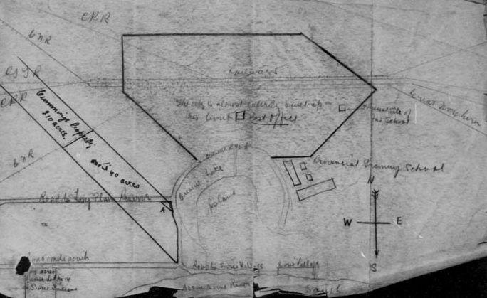 Plan showing the location of Portage la Prairie IRS.