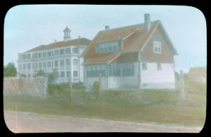 Norway House Indian Residential School and principal's residence.